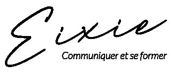 Logo Eixie communiquer et se former - noir